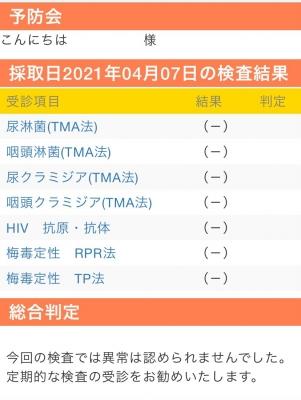 SYOKI(ショウキ) 4月性病検査結果
