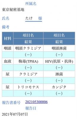 TAKE(タケ) 【性病検査結果報告】