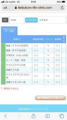 NAO(ナオ) 検査報告