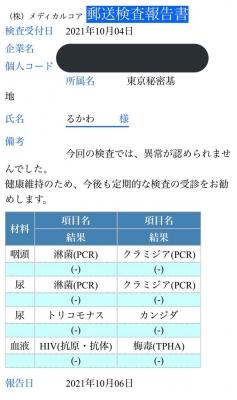 RUKAWA(ルカワ) 性病検査は無症状でした!
