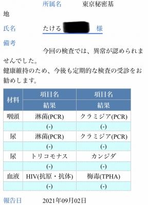 TAKERU(タケル) 検査結果!