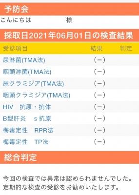 SYOKI(ショウキ) 6月度性病検査結果