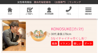 KONOSUKE(コウノスケ) 12月ランキング