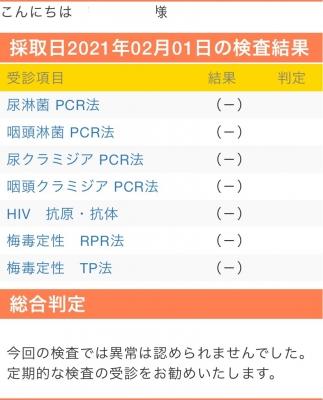 SYOKI(ショウキ) 2月性病検査結果
