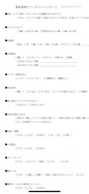 TOKI(トキ) SM、ソフトSM用カウンセリングシート